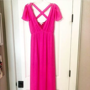 Women's Gianni Binni Hot Pink Maxi Dress